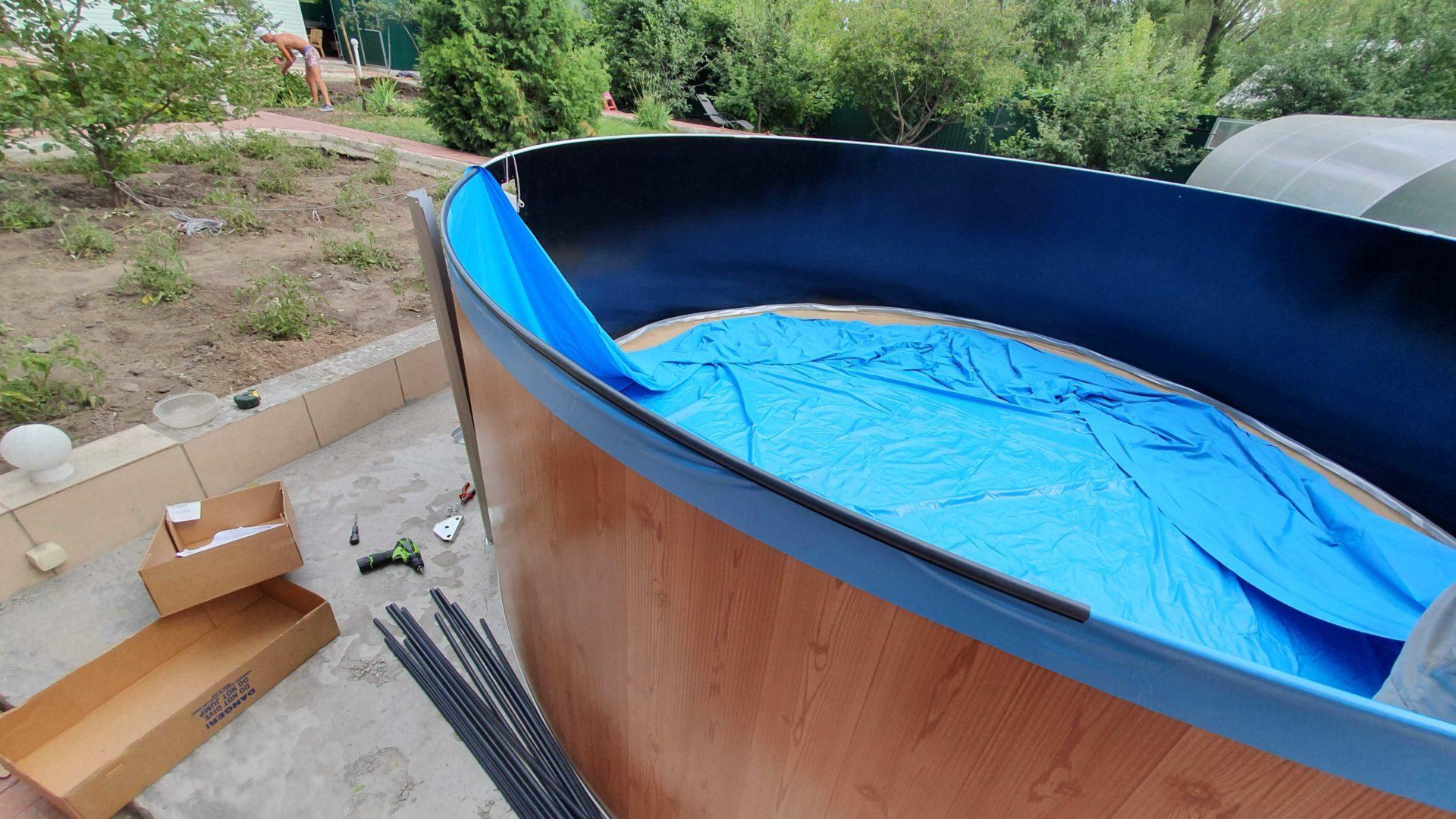 Сборка бассейна Atlantic pool Esprit-Big